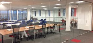 Frameless glass partitions transform West Yorkshire workspace