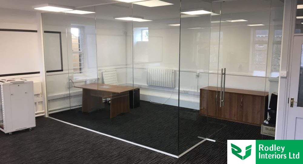 Bradford frameless glass partitioning works