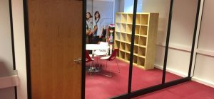 Budget office room divider for Graphic Design firm