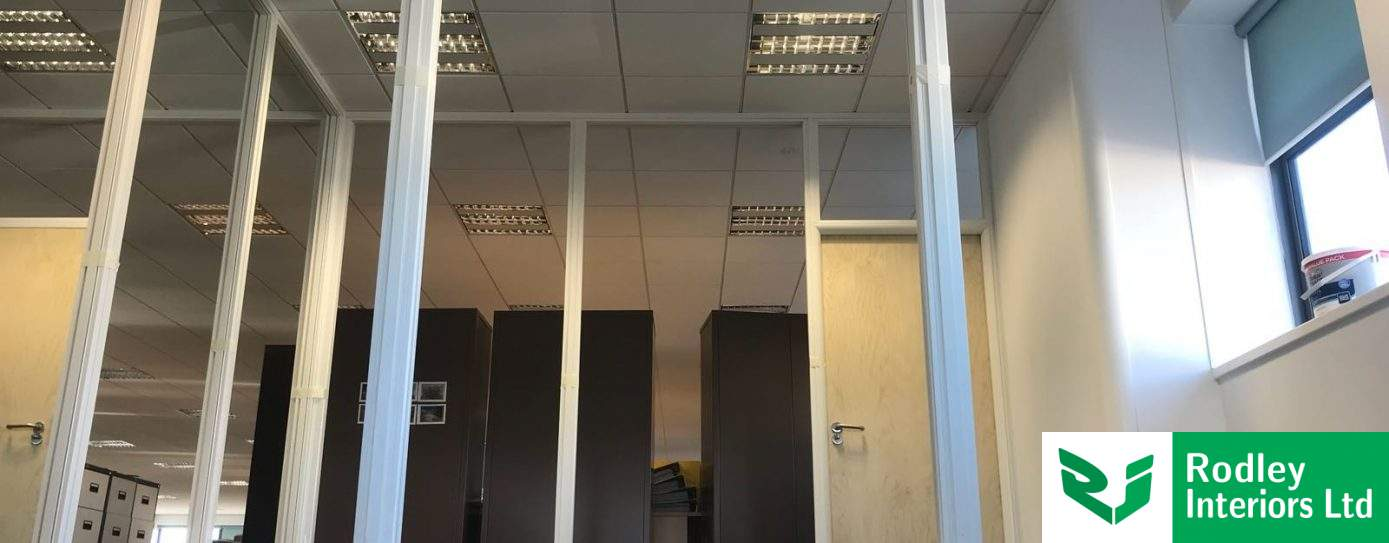 Glazed office partitioning works begin for York firm