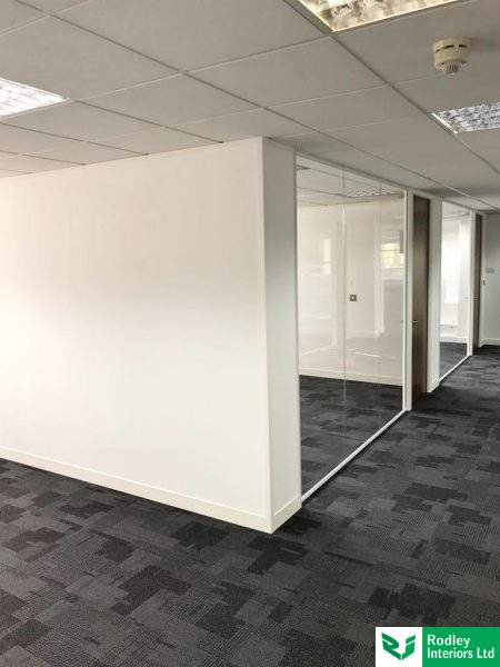 Office fit out with partitioning