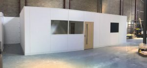 Free-standing warehouse office for Leeds firm