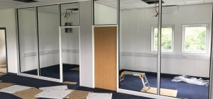 Office partitioning works begin at Leeds United training ground