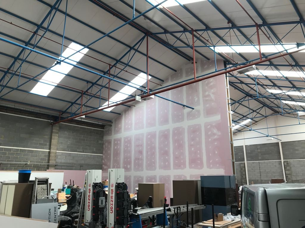 Warehouse fit out with partitioning