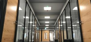 RAL 7016 partitioning framework to West Yorkshire office