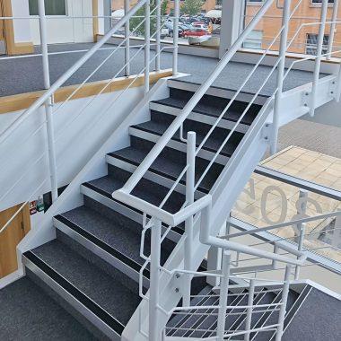 replaced stair nosings