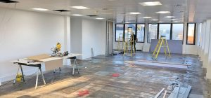 Work in progress: fit-out for large Leeds office
