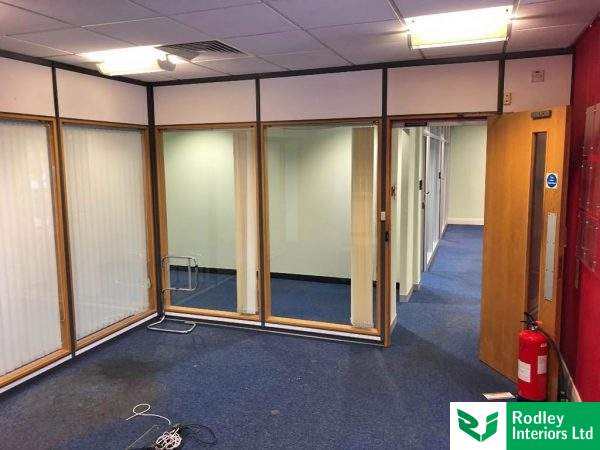 old timber partitioning