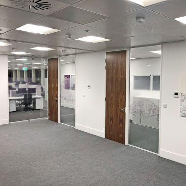 glazz manifestation on meeting room partitions