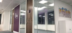 High-spec refurbishment in Wakefield using full-wall graphics