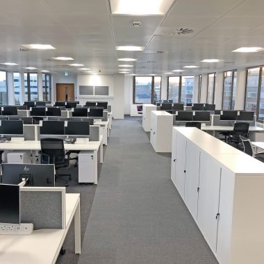 open plan office in Wakefield
