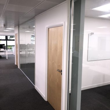 Leeds glass office partitioning