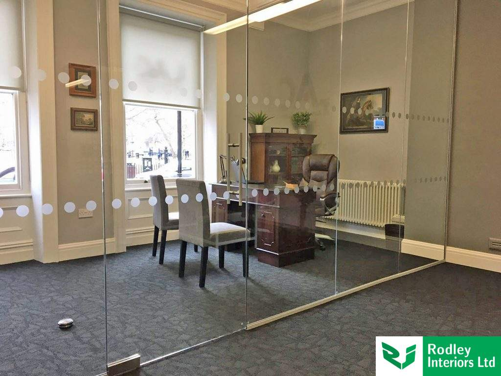 Toughened Frameless Glass Partitioning
