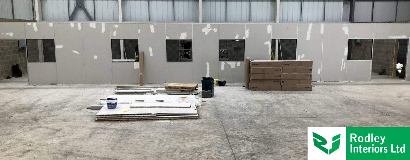 Warehouse Partitioning works commence in Huddersfield