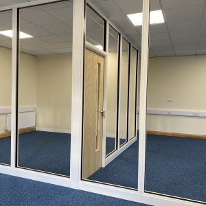 Glass Office Partitioning in Leeds