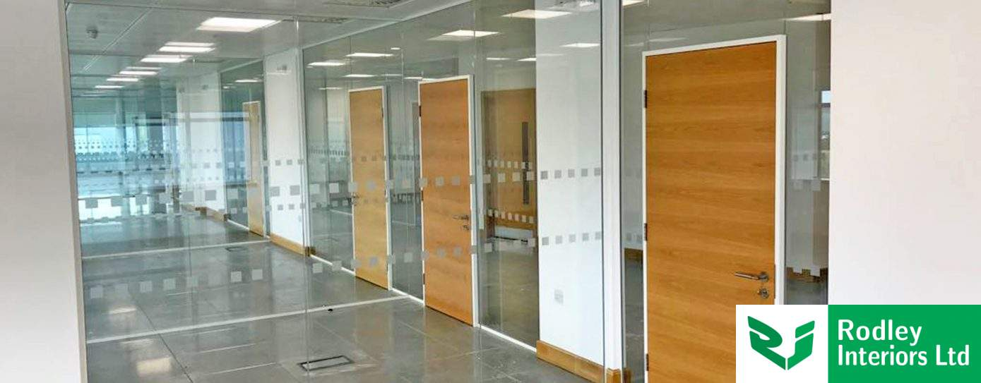 Single Glazed Frameless Glass Partitioning in Wakefield