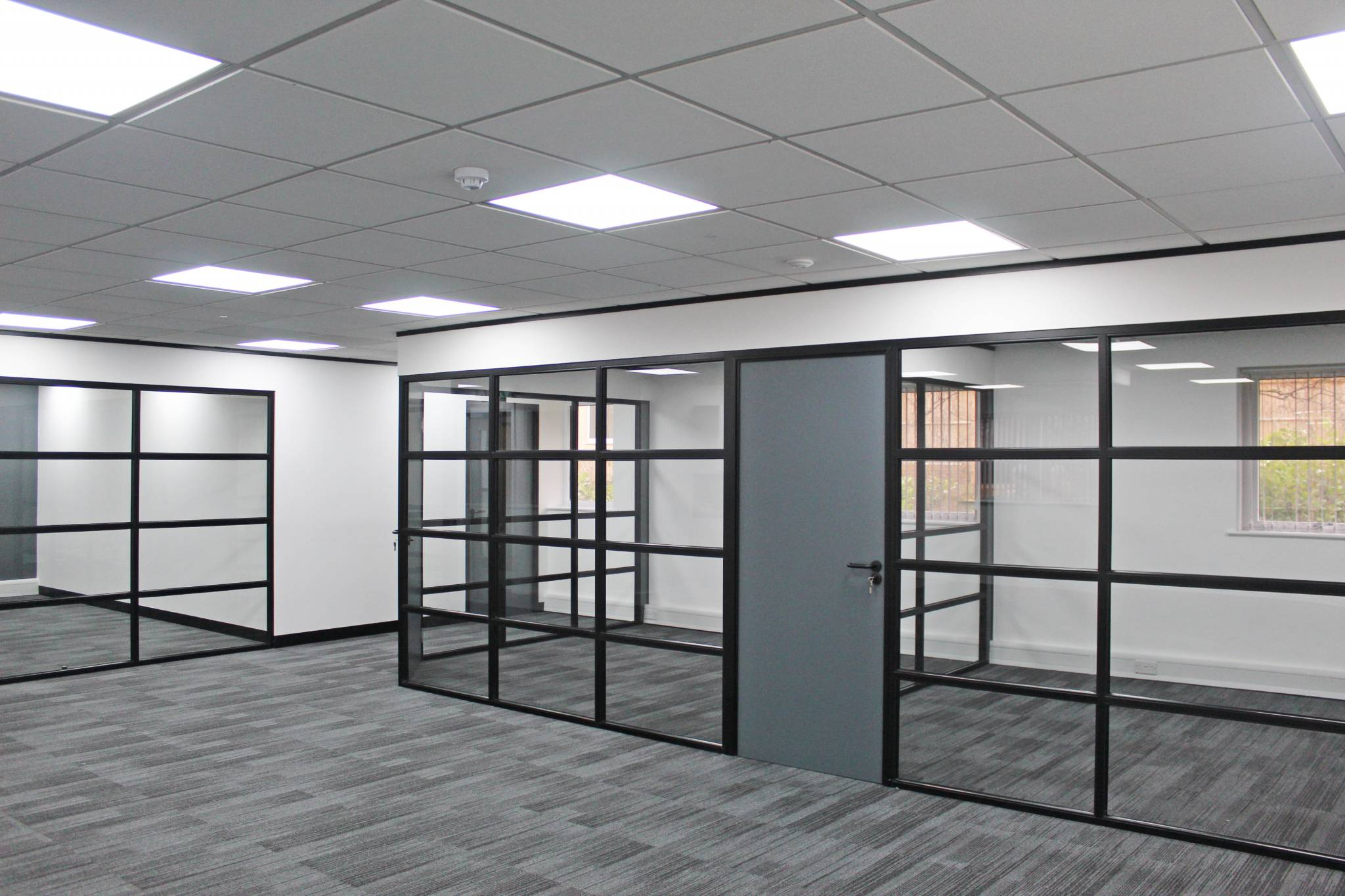 Industrial Style Glass Offices