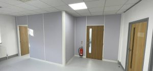 Demountable office partitioning system