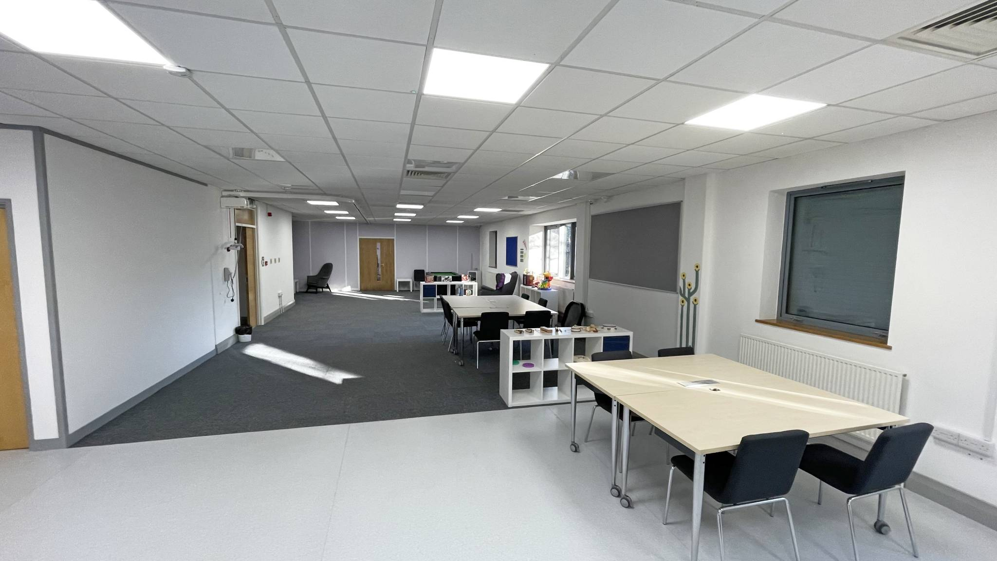 Partitioning install and fit out