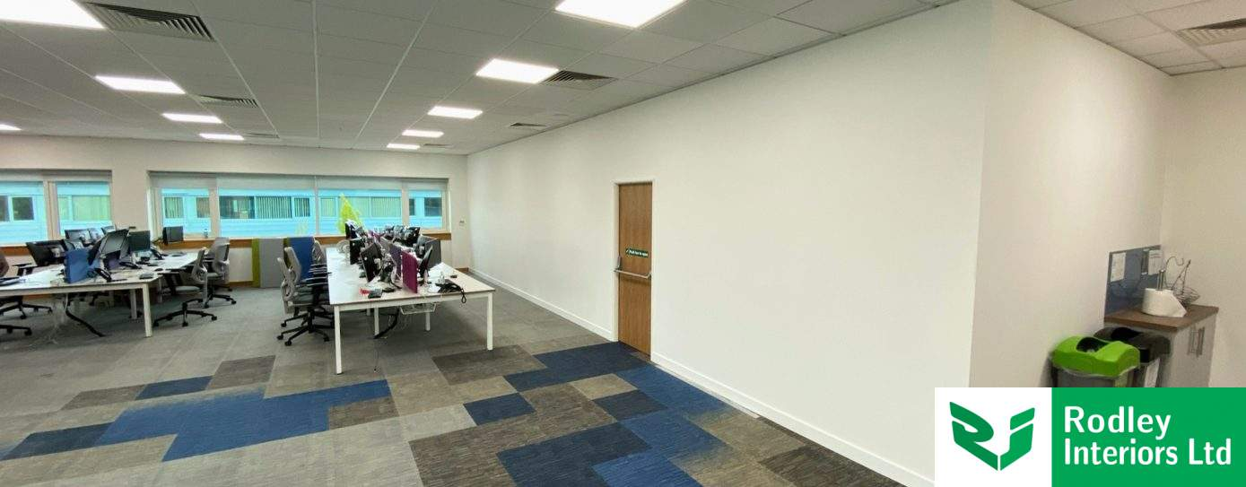 Office Partitioning install commences for Wakefield Law firm
