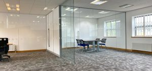 Frameless Glass Office Partitions in Leeds